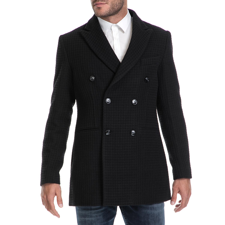 HAMAKI – Ανδρικό παλτό CAPPOTTO HAMAKI μαύρο 1541235.0-0071 51a6cf353d5