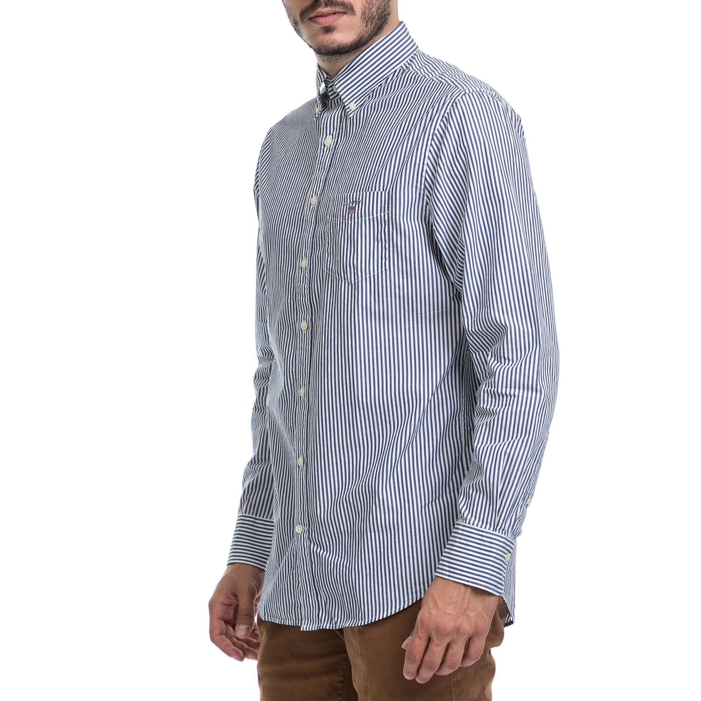 b0405e48f7d0 GANT - Ανδρικό πουκάμισο GANT λευκό-μπλε