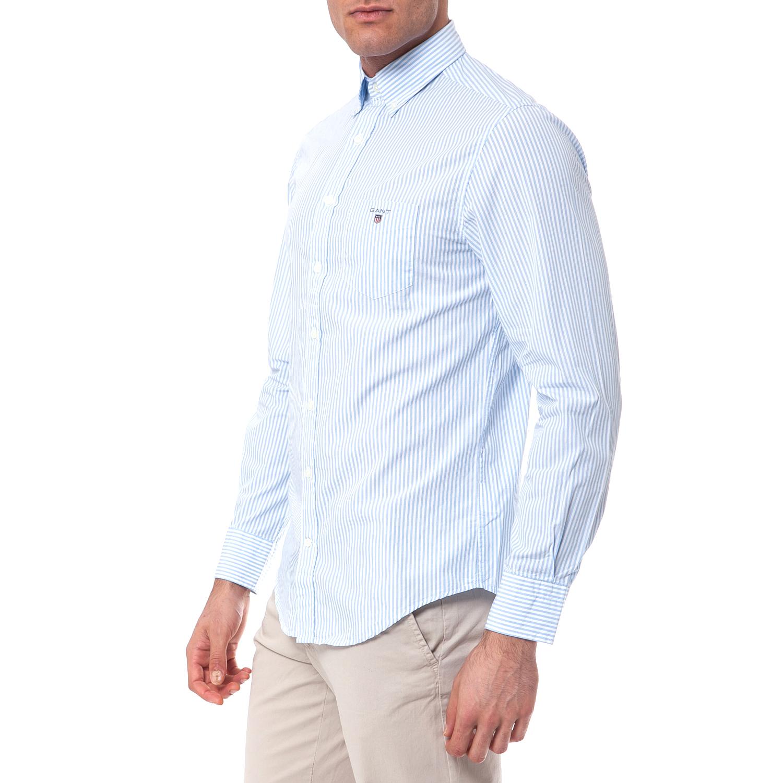 b2a6e5832def GANT - Πουκάμισο Gant λευκό-γαλάζιο
