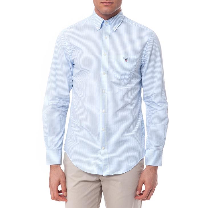 Πουκάμισο Gant λευκό-γαλάζιο (1541258.0-0617)  00900525b5a