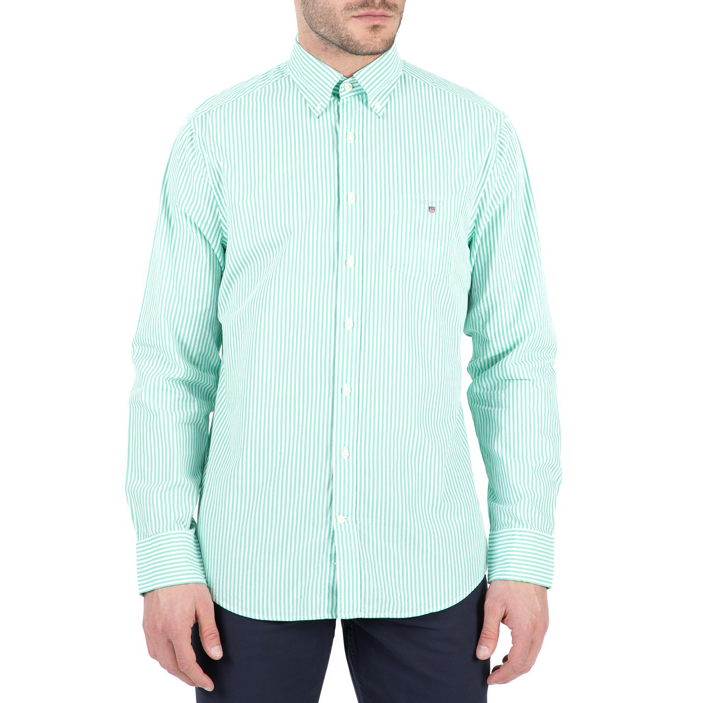 GANT - Ανδρικό μακρυμάνικο πουκάμισο Gant ριγέ ανδρικά ρούχα πουκάμισα μακρυμάνικα