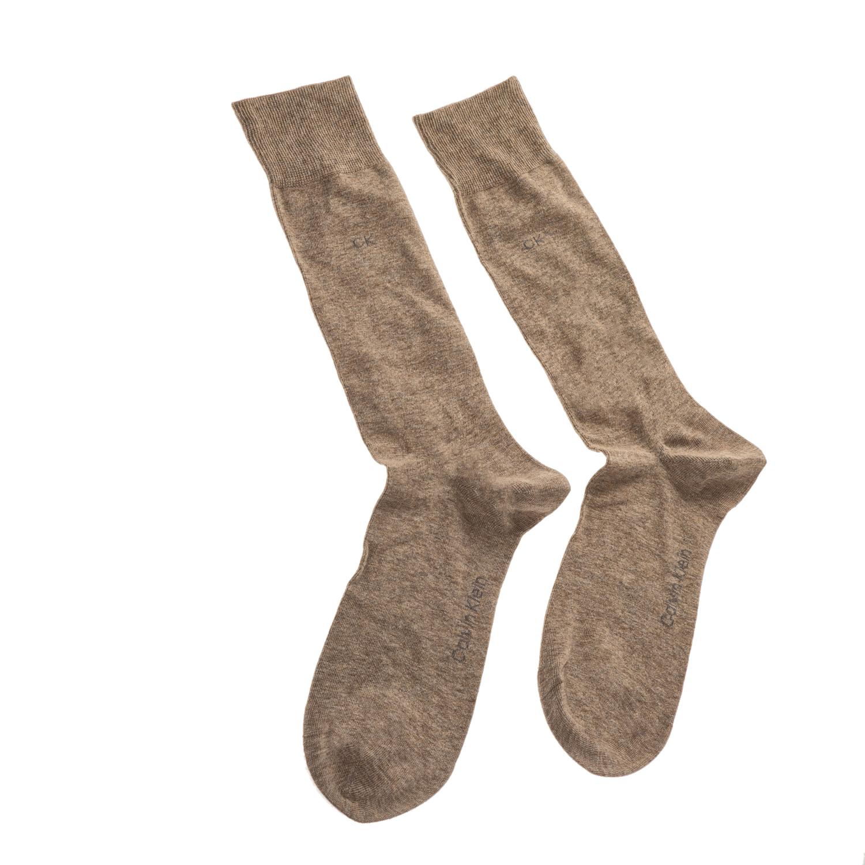 CK UNDERWEAR - Ανδρικό ζευγάρι κάλτσες Calvin Klein καφέ ανδρικά αξεσουάρ κάλτσες