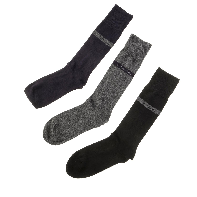 CK UNDERWEAR - Ανδρικό σετ κάλτσες Calvin Klein μαύρες-μπλε-γκρι ανδρικά αξεσουάρ κάλτσες