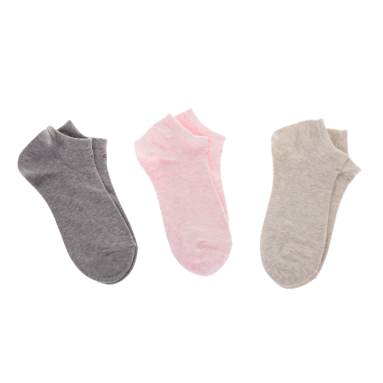 CK UNDERWEAR - Γυναικείο σετ κάλτσες Calvin Klein γκρι-ροζ-μπεζ γυναικεία αξεσουάρ κάλτσες