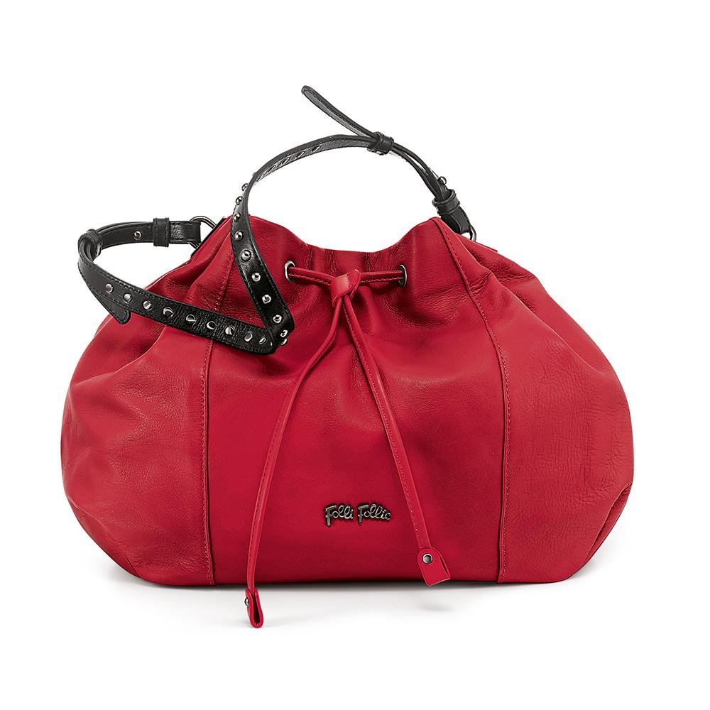 b79089de303 FOLLI FOLLIE – Γυναικεία τσάντα ώμου FOLLI FOLLIE κόκκινη
