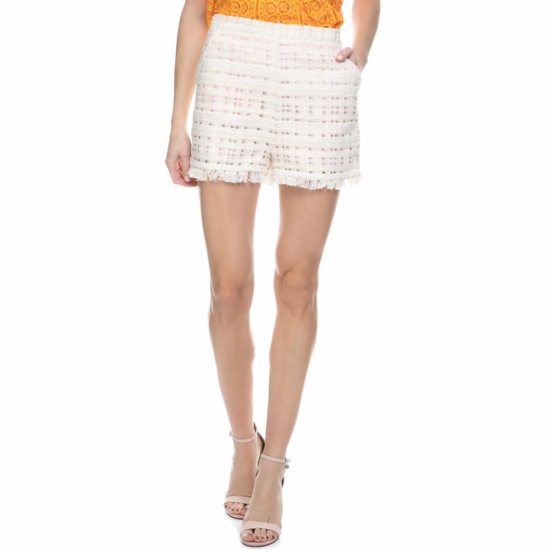 JUICY COUTURE - Γυναικείο σορτς tweed Juicy Couture λευκό - ροζ
