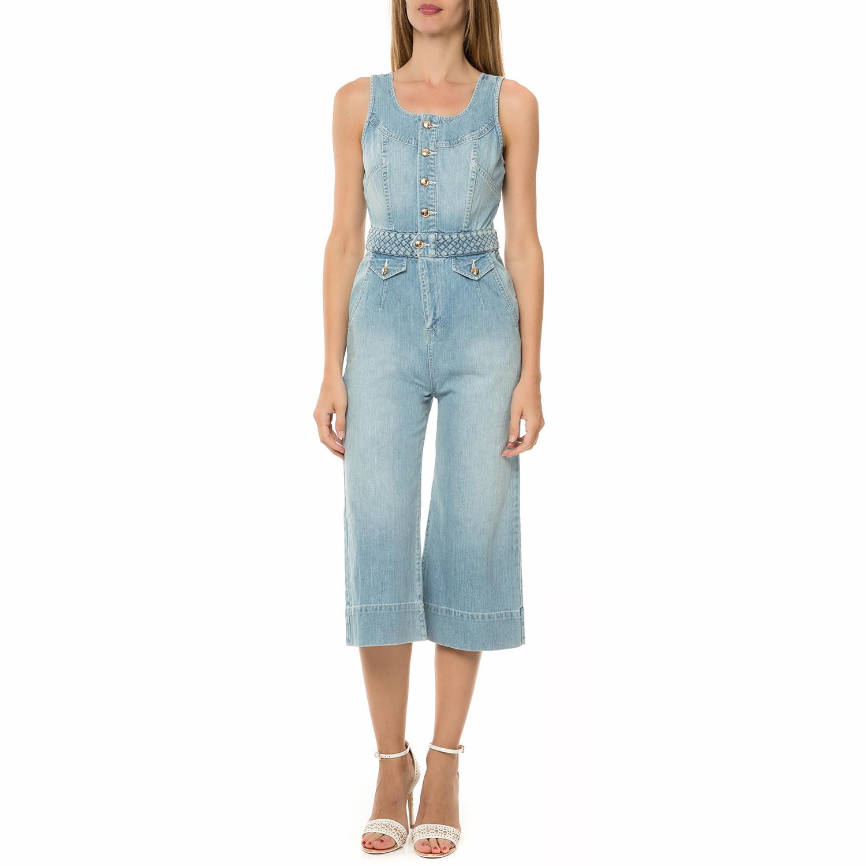 JUICY COUTURE - Γυναικεία ολόσωμη φόρμα JUICY COUTURE DNM BRAIDED CULOTTE ντένιμ γυναικεία ρούχα ολόσωμες φόρμες