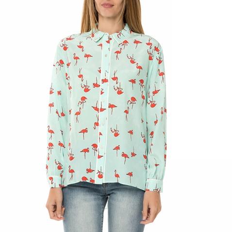 48397cd5f7b4 Γυναικείο μακρυμάνικο πουκάμισο JUICY COUTURE SW FLAMINGO γαλάζιο με print  (1542920.0-3345)