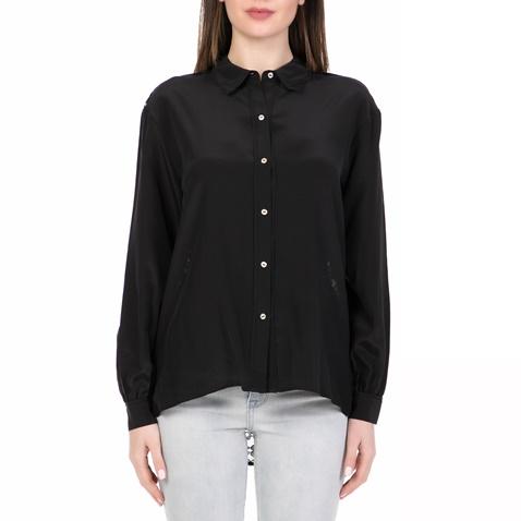 10d25263acdf Γυναικείο μακρυμάνικο πουκάμισο SILK LACE BACK JUICY COUTURE μαύρο  (1542930.0-0071)