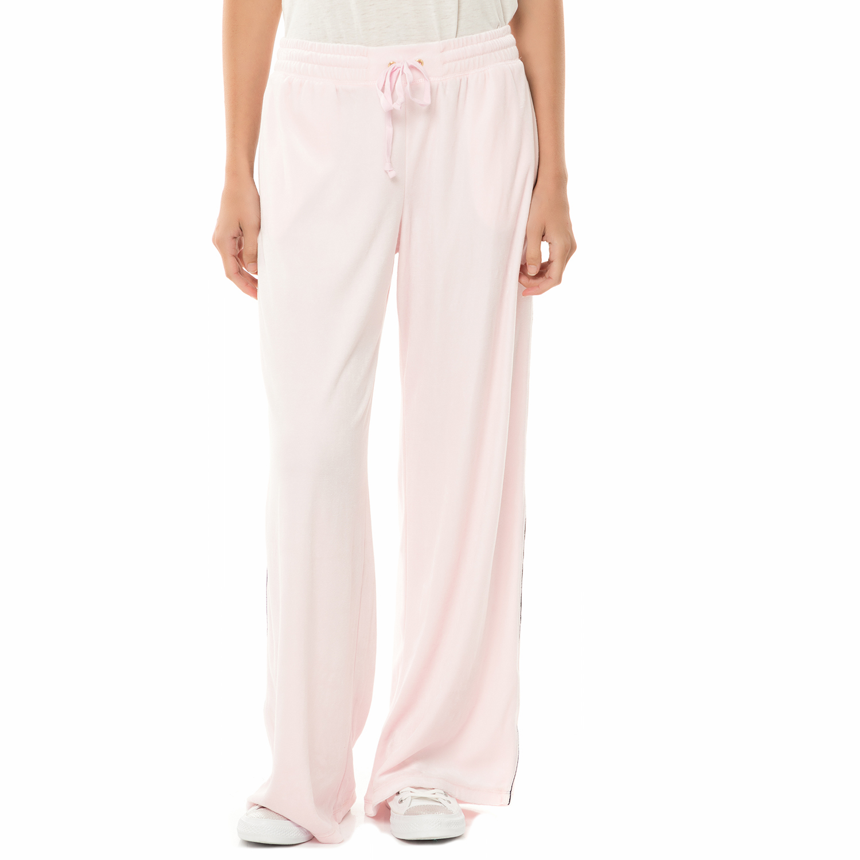 JUICY COUTURE - Γυναικείο παντελόνι φόρμας JUICY COUTURE TRK LW VELOUR MALIBU ρο γυναικεία ρούχα παντελόνια φόρμες