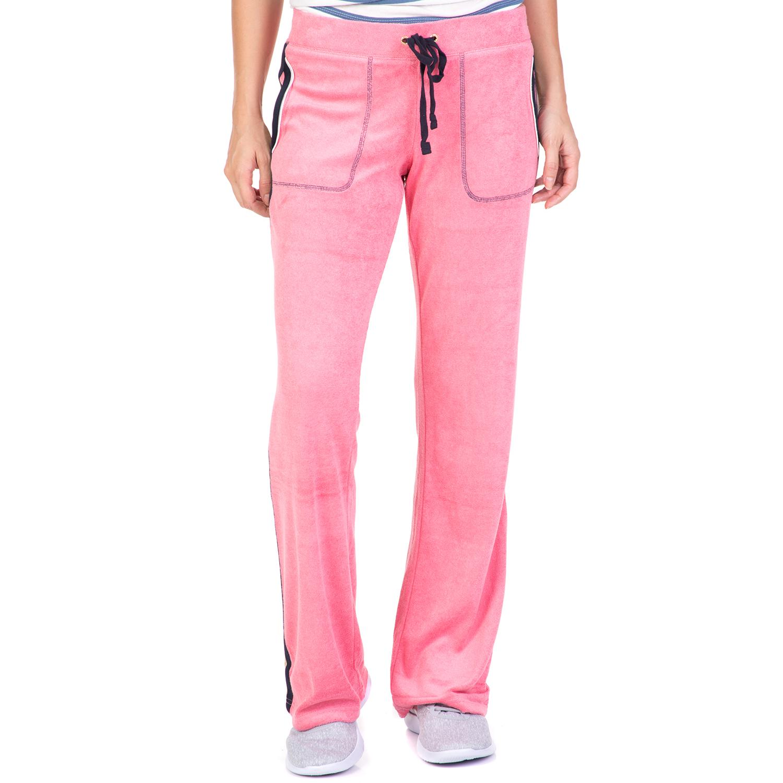 JUICY COUTURE - Γυναικείο παντελόνι φόρμας JUICY COUTURE TRK MICROTERRY FLAMINGO γυναικεία ρούχα παντελόνια φόρμες