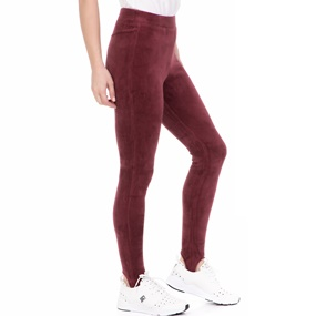 JUICY COUTURE. Γυναικείο κολάν STRETCH VELOUR STIRRUP JUICY COUTURE μπορντό 06ac19d79de