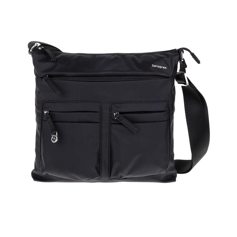 SAMSONITE - Τσάντα ώμου FLAT SHOULDER BAG IPAD μαύρη γυναικεία αξεσουάρ τσάντες σακίδια ωμου
