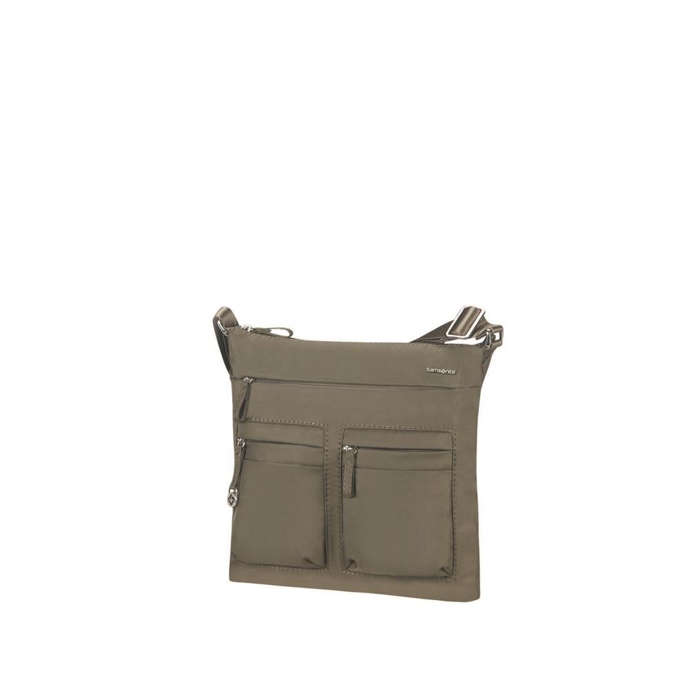 SAMSONITE - Γυναικεία τσάντα ώμου FLAT SHOULDER BAG IPAD 1ST χακί γυναικεία αξεσουάρ τσάντες σακίδια ταξιδίου