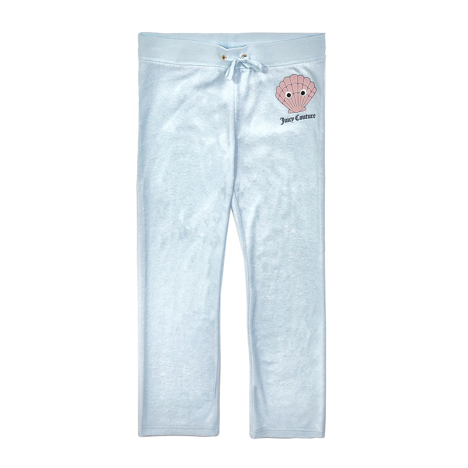 3ded3855510 JUICY COUTURE KIDS - Κοριτσίστικο παντελόνι φόρμας JUICY COUTURE MICROTERRY  SAMMY SEASHELL γαλάζιο