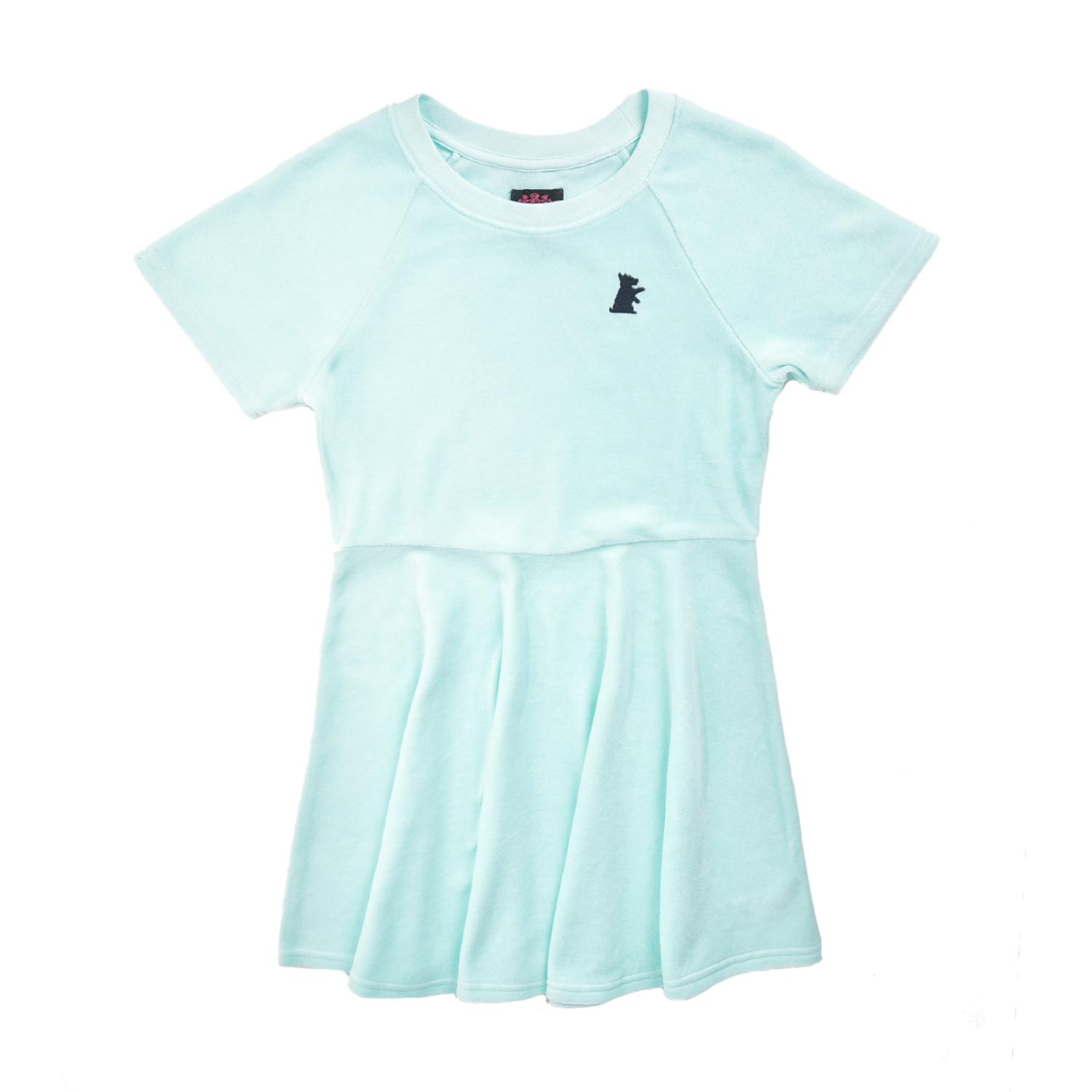 JUICY COUTURE KIDS - Κοριτσίστικο φόρεμα JUICY COUTURE SOLID VLR SKATER γαλάζιο παιδικά girls ρούχα φορέματα
