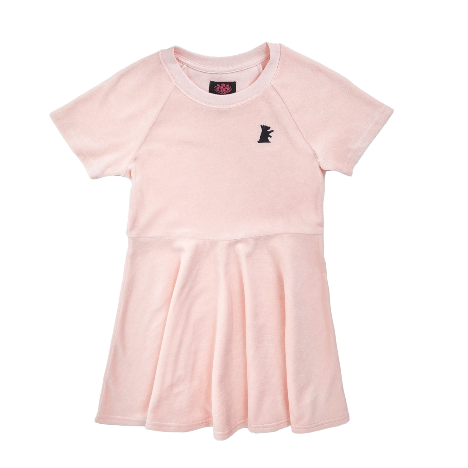 JUICY COUTURE KIDS - Κοριτσίστικο φόρεμα JUICY COUTURE SOLID VLR SKATER ροζ παιδικά girls ρούχα φορέματα