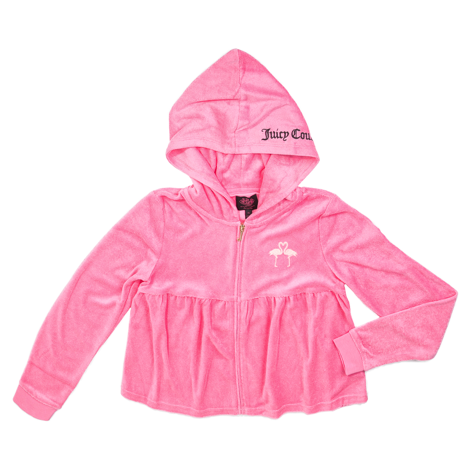 JUICY COUTURE KIDS – Κοριτσίστικη ζακέτα JUICY COUTURE MICROTERRY FLAMINGO KISS φούξια