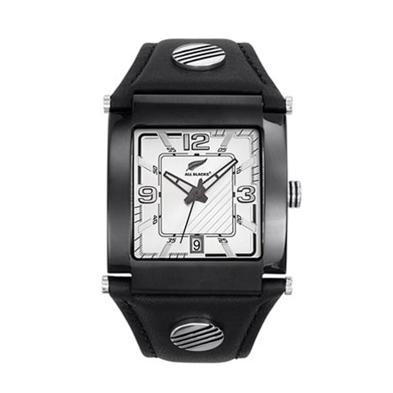 ALL BLACKS - Ανδρικό ρολόι ALL BLACKS μαύρο ανδρικά αξεσουάρ ρολόγια δερμάτινα