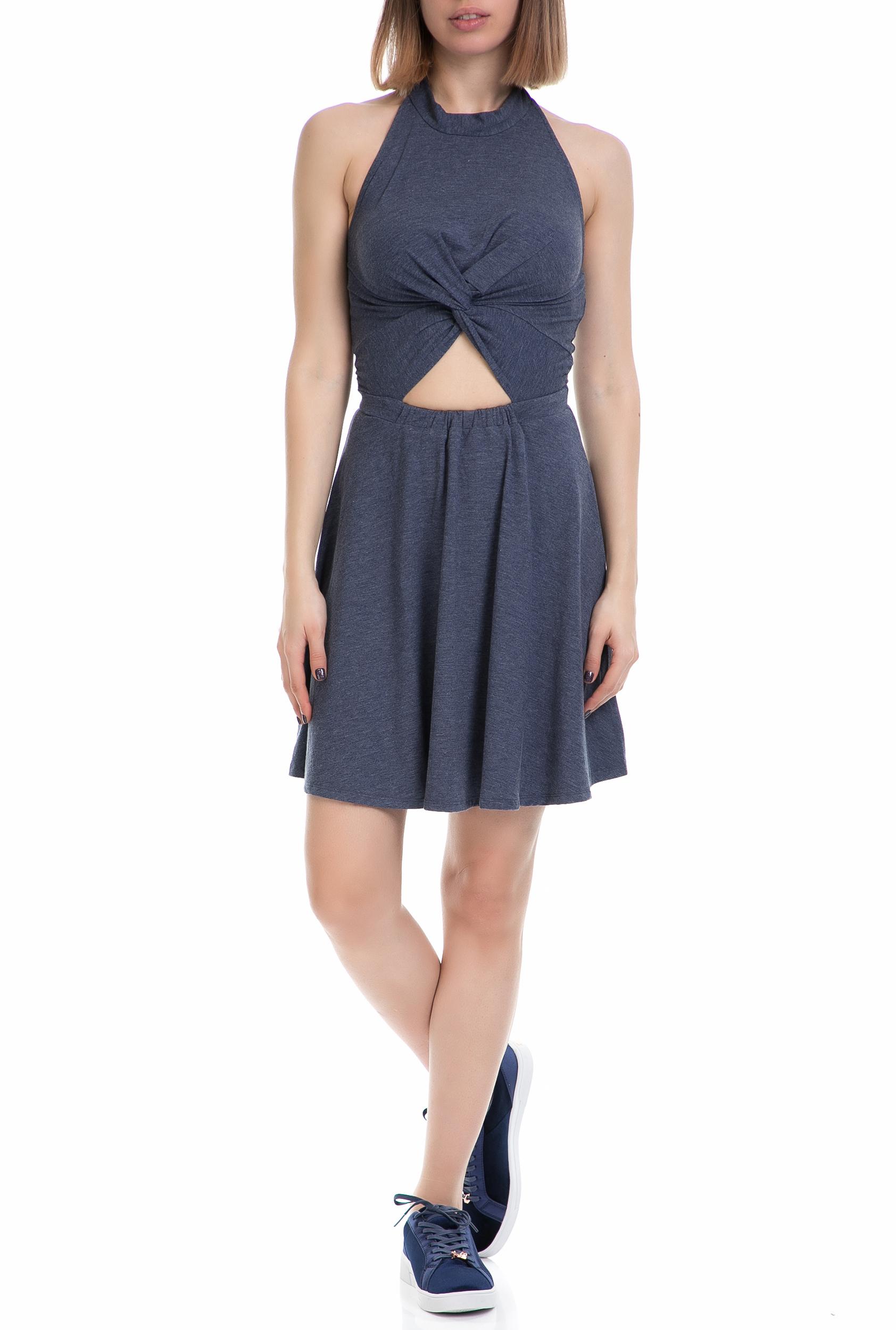 JUICY COUTURE - Γυναικείο φόρεμα CUT OUT JUICY COUTURE μπλε γυναικεία ρούχα φορέματα μίνι