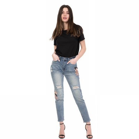 300f7a9df86 Γυναικείο τζιν παντελόνι EMBROIDERED FLORAL JUICY COUTURE μπλε ...