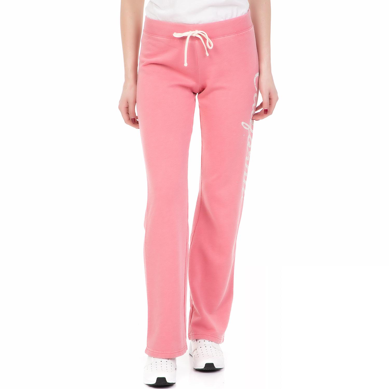 JUICY COUTURE - Γυναικείο παντελόνι φόρμας BURNOUT PARADISE JUICY COUTURE ροζ γυναικεία ρούχα παντελόνια φόρμες
