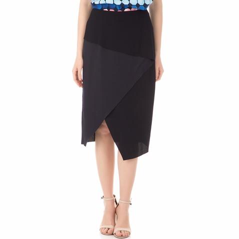 90ad9befbb Γυναικεία φούστα TED BAKER TOBOLA ASYMMETRIC FOLD PENCIL μπλε-μαύρη  (1544803.0-0013)