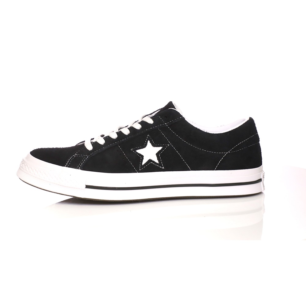 CONVERSE – Unisex σουέντ sneakers CONVERSE ONE STAR μαύρα