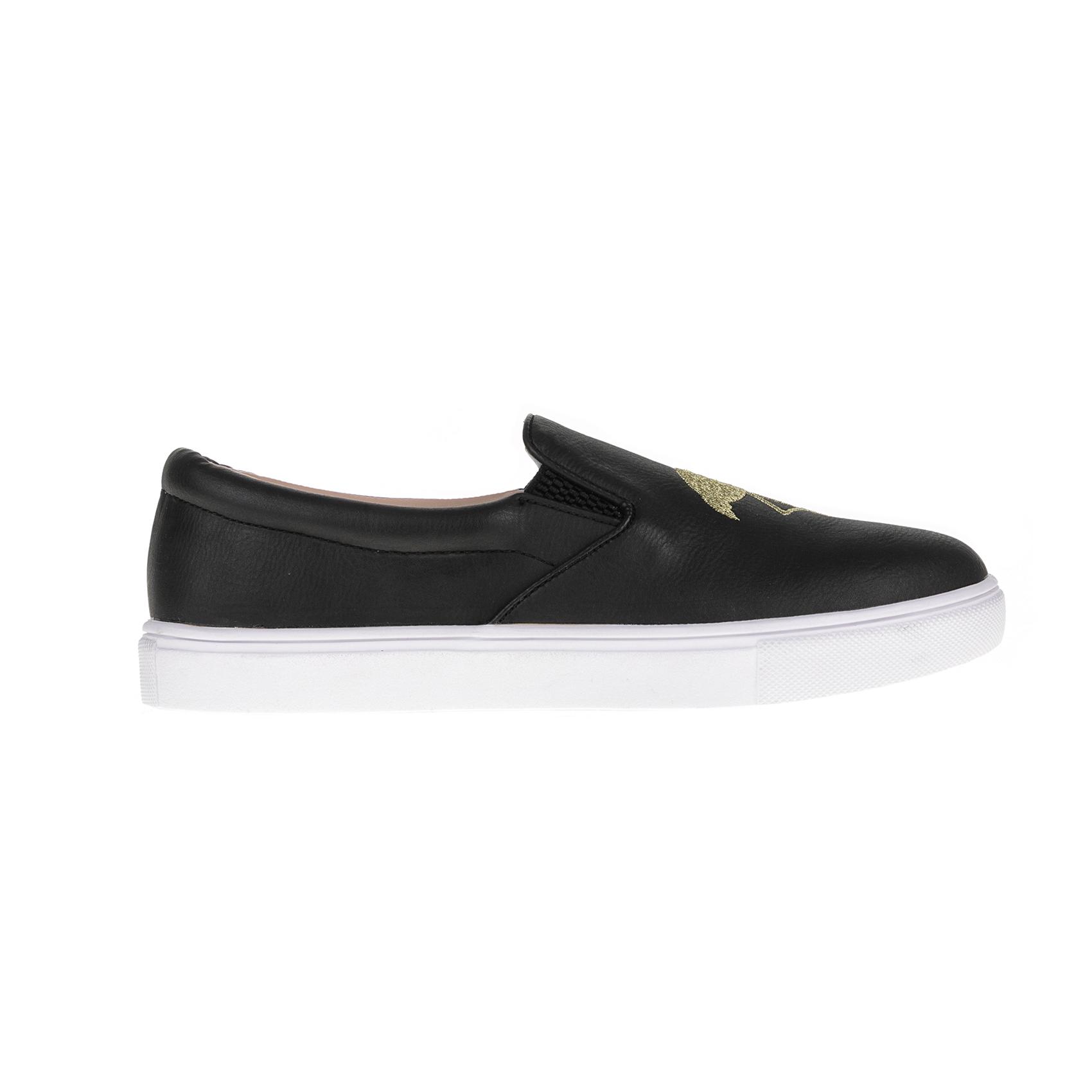 JUICY COUTURE - Γυναικεία παπούτσια JUICY COUTURE ELEAVE μαύρα γυναικεία παπούτσια μοκασίνια μπαλαρίνες μοκασίνια