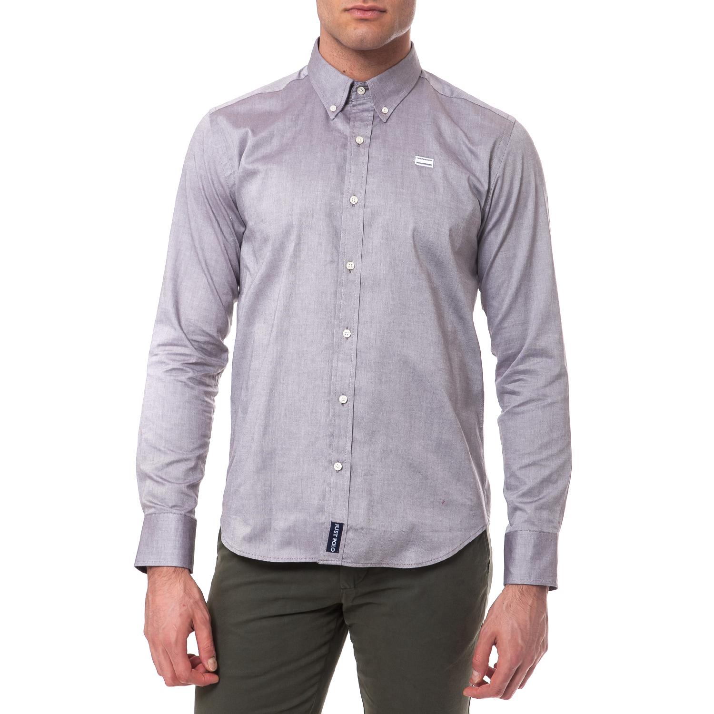 JUST POLO – Ανδρικό πουκάμισο Just Polo γκρι 1545480.0-G601 73cff953a05