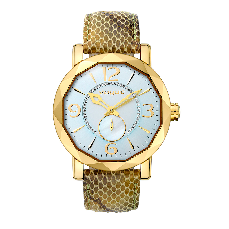 VOGUE - Γυναικείο ρολόι VOGUE πράσινο γυναικεία αξεσουάρ ρολόγια δερμάτινα