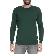 BATTERY-Ανδρικό πουλόβερ BATTERY πράσινο