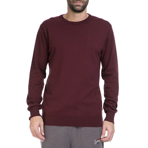 Ανδρικό πουλόβερ BATTERY μπορντώ (1545690)  29e778e3915