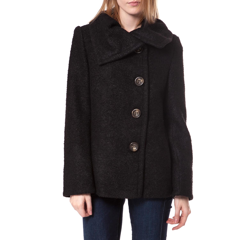 TEA & ROSE - Γυναικείο παλτό Tea & Rose μαύρο γυναικεία ρούχα πανωφόρια παλτό