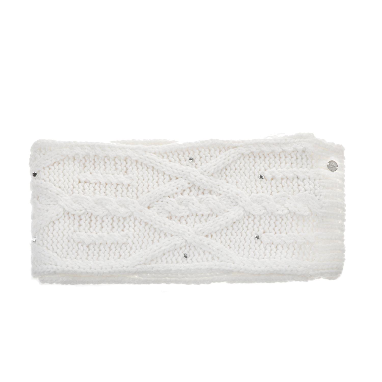 ROXY - Γυναικείο πλεκτό κασκόλ ROXY SHOOTING STAR λευκό με στρας γυναικεία αξεσουάρ φουλάρια κασκόλ γάντια