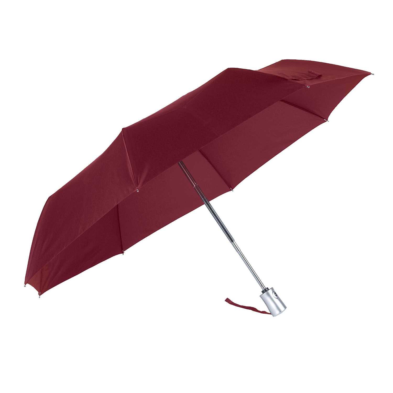 SAMSONITE - Ομπρέλα πτυσσόμενη RAIN PRO 3SECT AUTO O/C μπορντό γυναικεία αξεσουάρ ομπρέλες