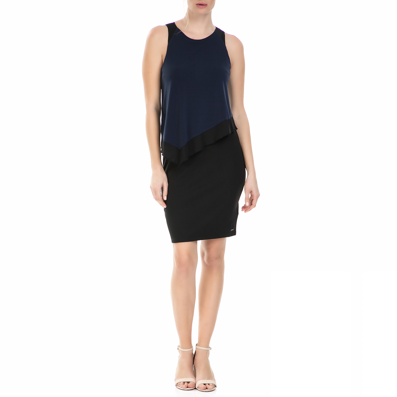 CALVIN KLEIN JEANS - Γυναικείο μίνι φόρεμα Calvin Klein Jeans DHARA μαύρο - μπλε γυναικεία ρούχα φορέματα μίνι