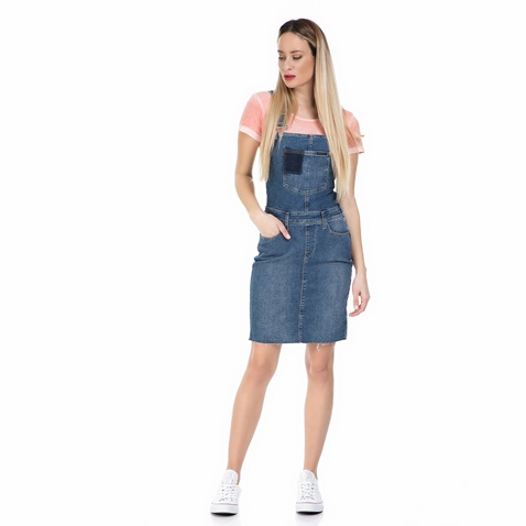 39e3bfabaaa8 Γυναικείο τζιν φόρεμα σαλοπέτα Calvin Klein Jeans μπλε (1546695.0 ...