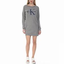 CALVIN KLEIN JEANS-Γυναικείο μίνι φόρεμα TRUE ICON Calvin Klein Jeans γκρι