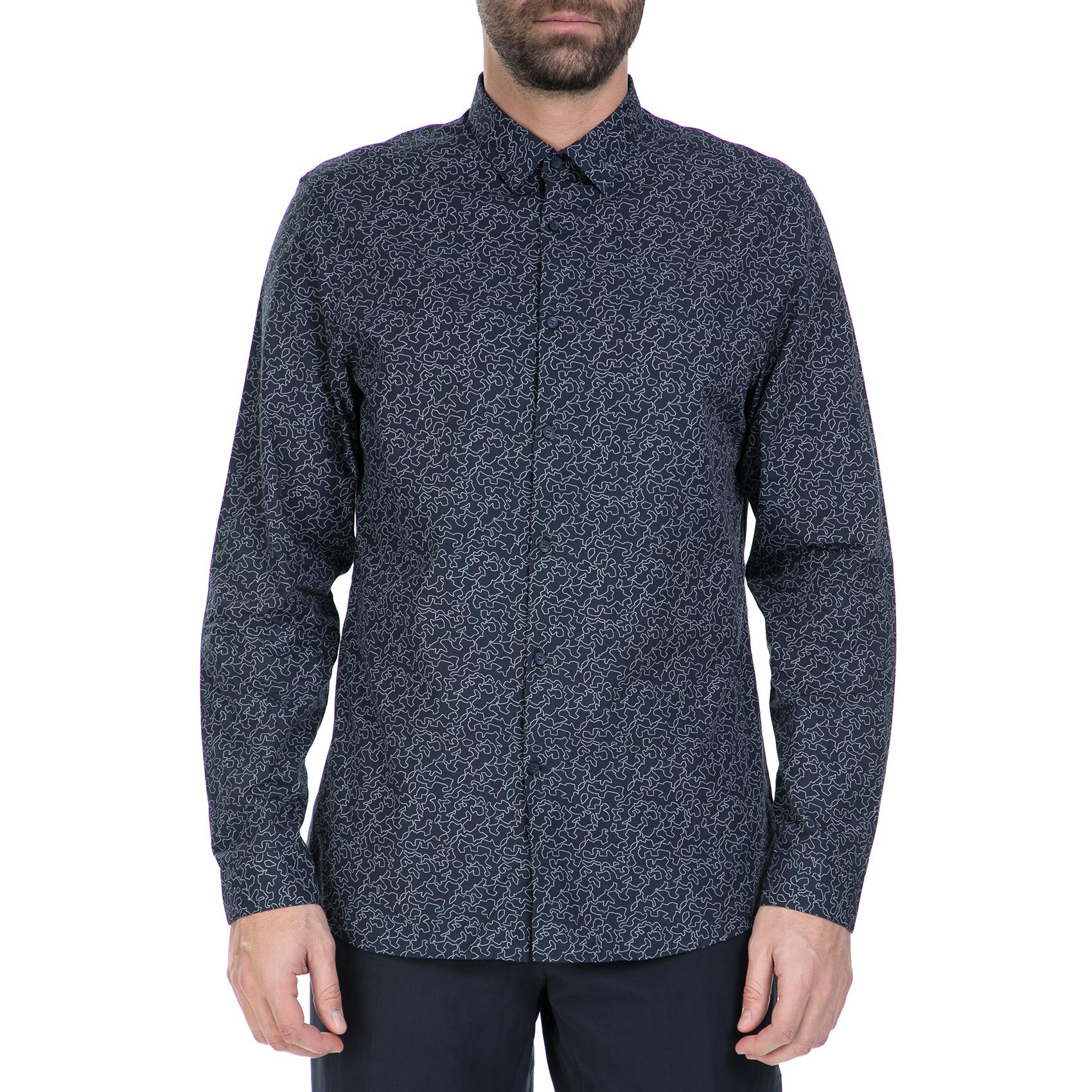9a3621d47351 CK - Ανδρικό πουκάμισο CK WALLACE μπλε με μοτίβο