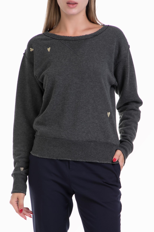f8964785fc SCOTCH   SODA - Γυναικεία μπλούζα φούτερ Loose fitted sweat small scrib  ανθρακί