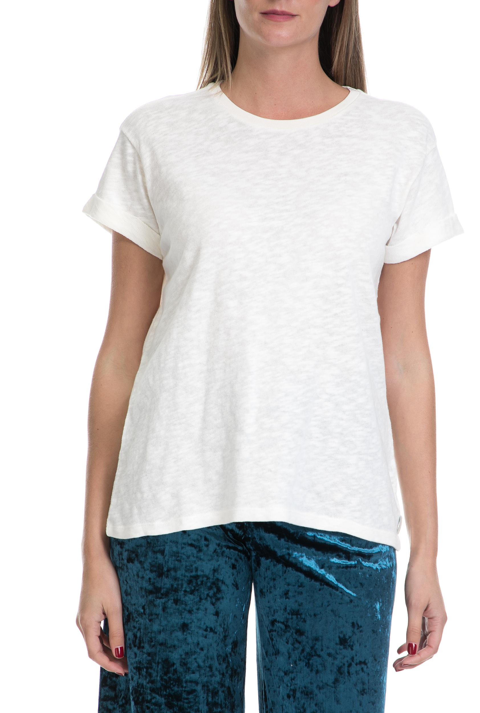 SCOTCH & SODA - Γυναικείο T-shirt Home alone MAISON SCOTCH λευκό γυναικεία ρούχα μπλούζες κοντομάνικες
