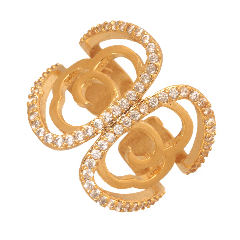 JEWELTUDE - Γυναικείο επίχρυσο δαχτυλίδι Jeweltude γυναικεία αξεσουάρ κοσμήματα δαχτυλίδια