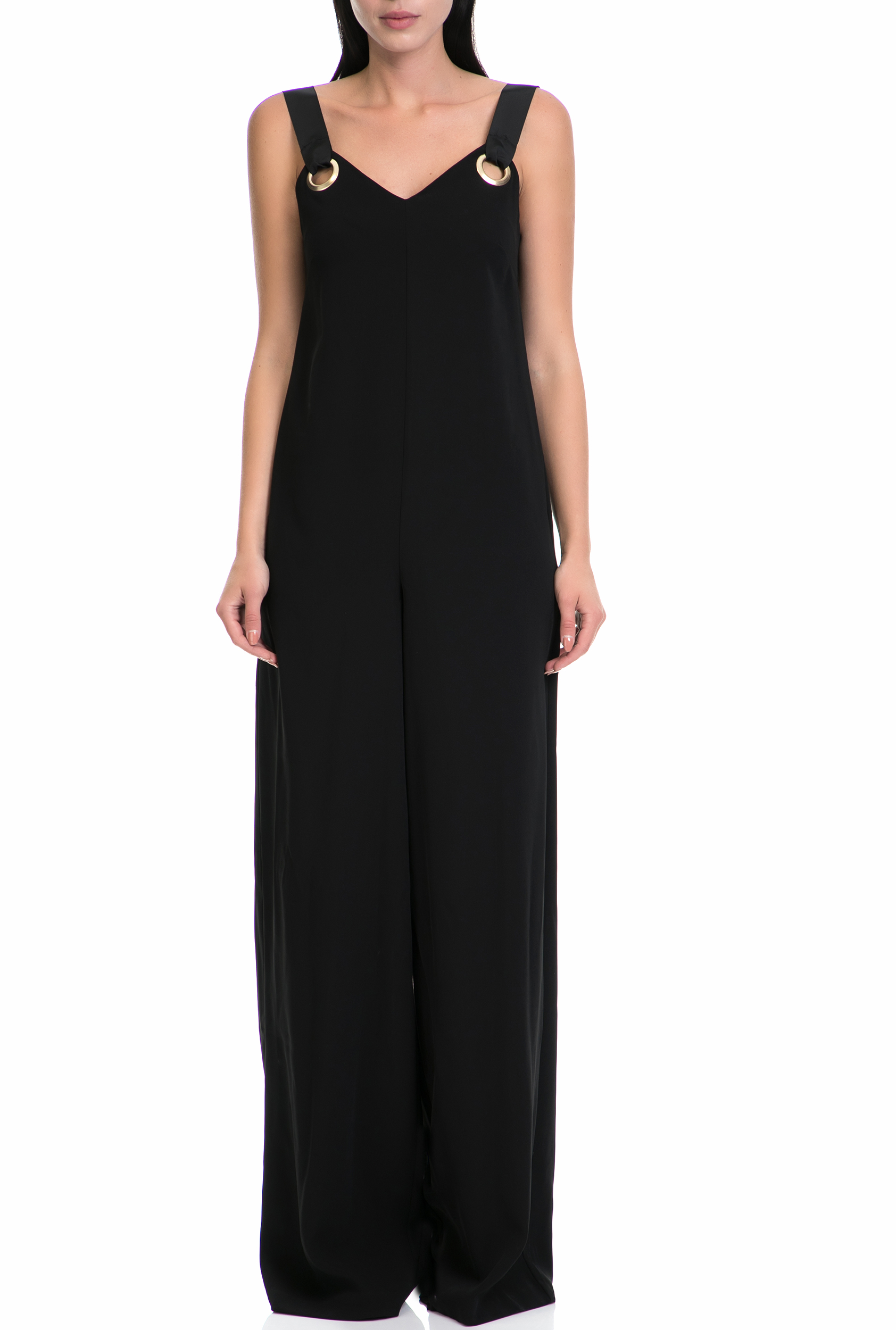GUESS - Γυναικεία ολόσωμη φόρμα LUBIA GUESS μαύρη γυναικεία ρούχα ολόσωμες φόρμες