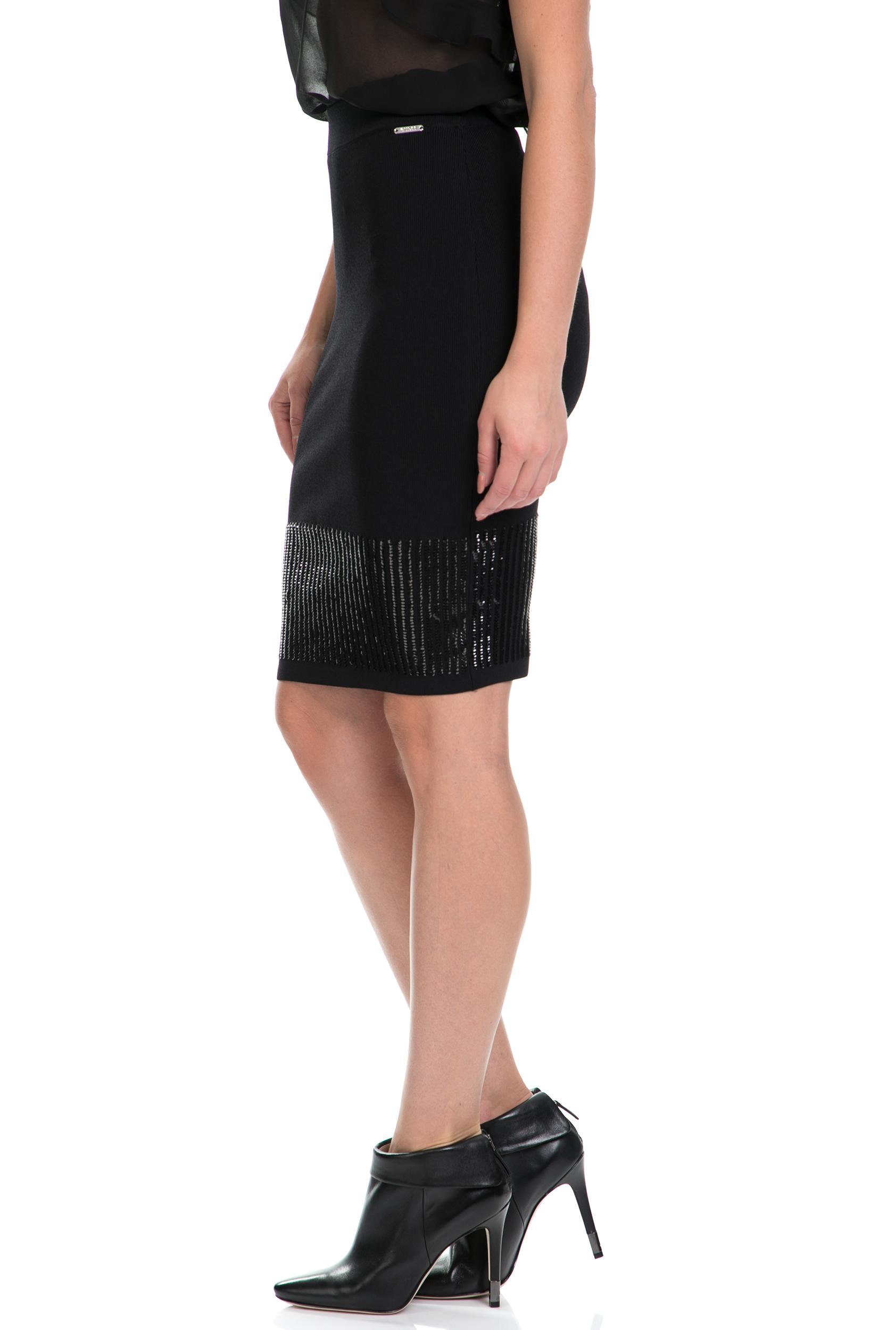 GUESS - Γυναικεία φούστα ANGIE GUESS μαύρη 15cacf6e004