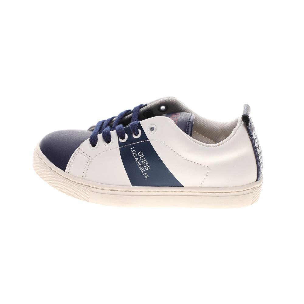 GUESS KIDS – Παιδικά sneakers GUESS KIDS ELE12 SAMMY LO ασπρόμαυρα