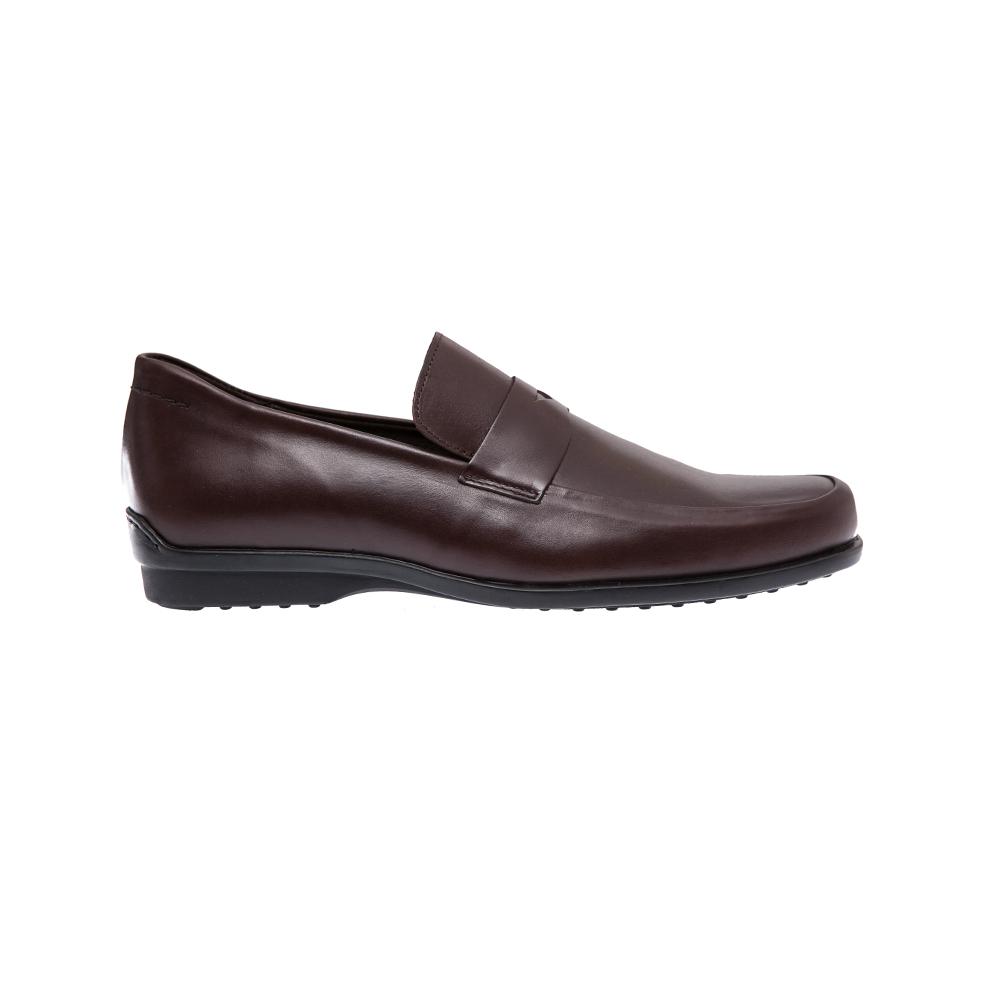 ΚΑΛΟΓΗΡΟΥ - Ανδρικά παπούτσια Καλογήρου καφέ ανδρικά παπούτσια μοκασίνια loafers