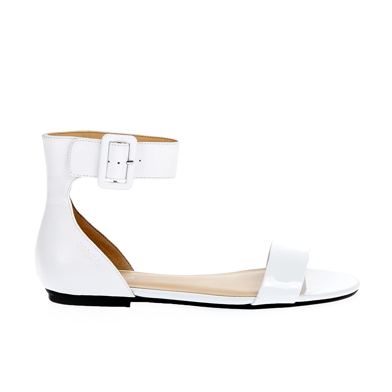 CALVIN KLEIN JEANS – Γυναικεία σανδάλια Calvin Klein Jeans λευκά
