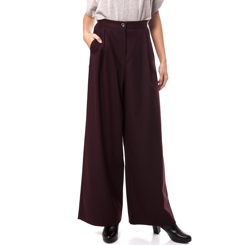 MOTIVI - Γυναικεία παντελόνα MOTIVI μπορντώ γυναικεία ρούχα παντελόνια παντελόνες