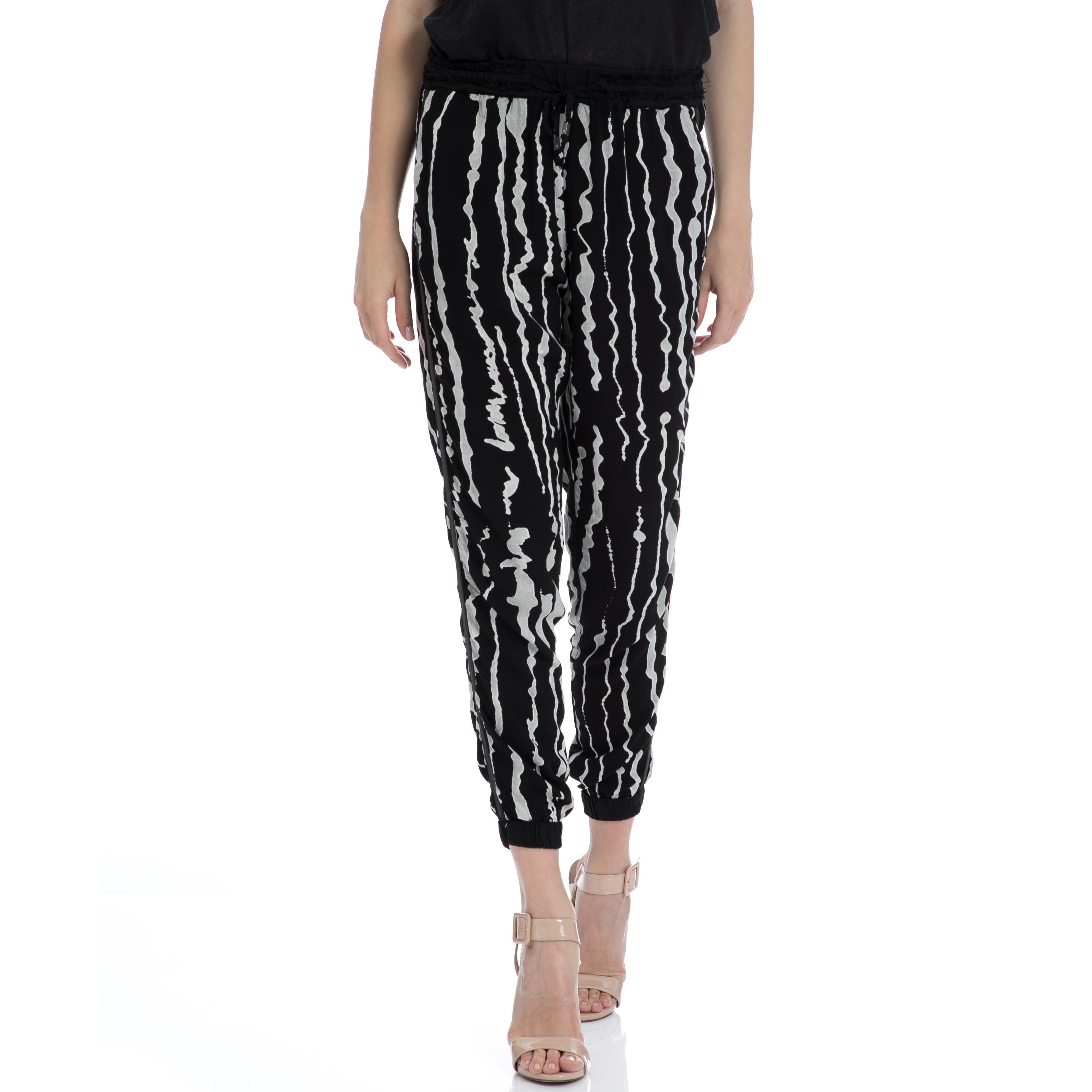 GARCIA JEANS - Γυναικείο παντελόνι Garcia Jeans μαύρο-γκρι γυναικεία ρούχα παντελόνια παντελόνες